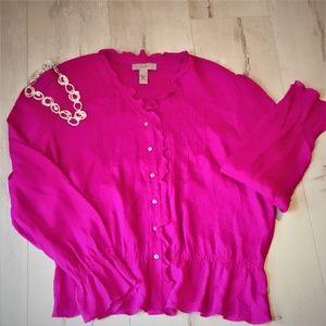 i. e. Tops - i.e. - Beautiful, crepe feel silk blouse!